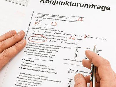 Konjunktur Umfrage Fragebogen Statistik