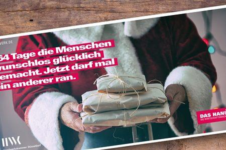 Weihnachtskarte Handwerkskammer Düsseldorf
